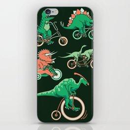 Dinosaurs on Bikes! iPhone Skin
