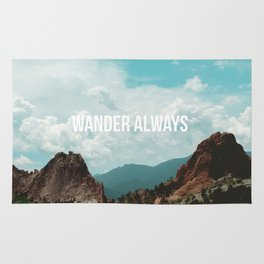 Wander Always - Mountains Rug