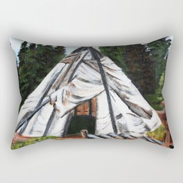 Walking Out Ceremony Teepee Rectangular Pillow