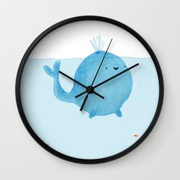 The Enigmatic Pudding Whale Wall Clock