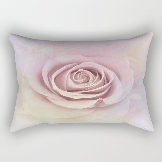 Forever My Love Pink Rose Abstract Rectangular Pillow