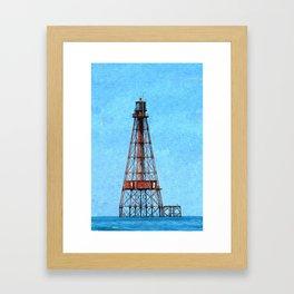 Sombrero Light at the Reef Framed Art Print