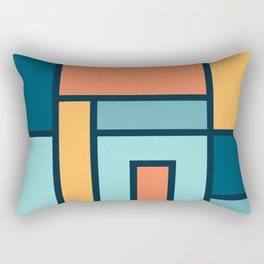 Bauhaus Abstract Pattern 01 Rectangular Pillow