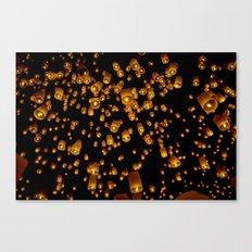 Loi Krathong Lanterns Canvas Print