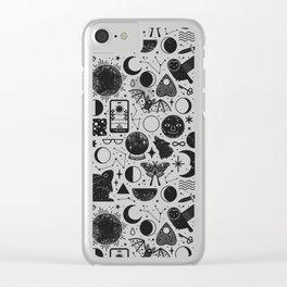Lunar Pattern: Eclipse Clear iPhone Case