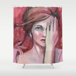 strawberry flirt Shower Curtain