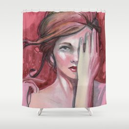 strawberry flirt Shower Curtain