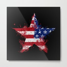 Artistic LXXXIX - Americana Star II Metal Print