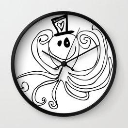 Reggie the Love Squid by Angela Lutz Wall Clock