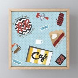 Twin Peaks RR Diner Toss Framed Mini Art Print