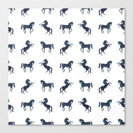 Where the blue horses run Canvas Print