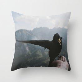 A wild Bird - landscape photography Throw Pillow
