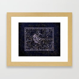 Gemini, Constellation map, Zodiac, Sign sky, Stars, Universe, astrology, astrological, signs, birth Framed Art Print