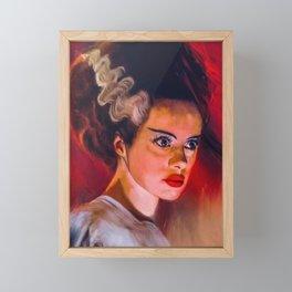Bride of Frankenstein Poster, Universal Monsters Print, Horror Art Portrait, Mary Shelley, Glamour, Goth Gift, Movie Film Poster Vintage Framed Mini Art Print