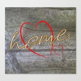 Home with a Heart Canvas Print