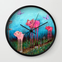 Take the Long Way Home Wall Clock