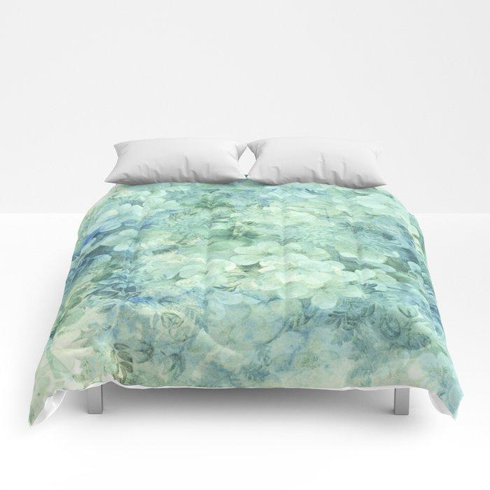 fleurettes and soft blue Comforters