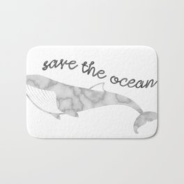 Save The Ocean - Marble Whale Bath Mat