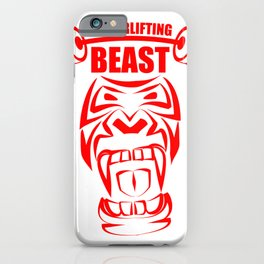 powerlifting red gorilla beast iPhone Case