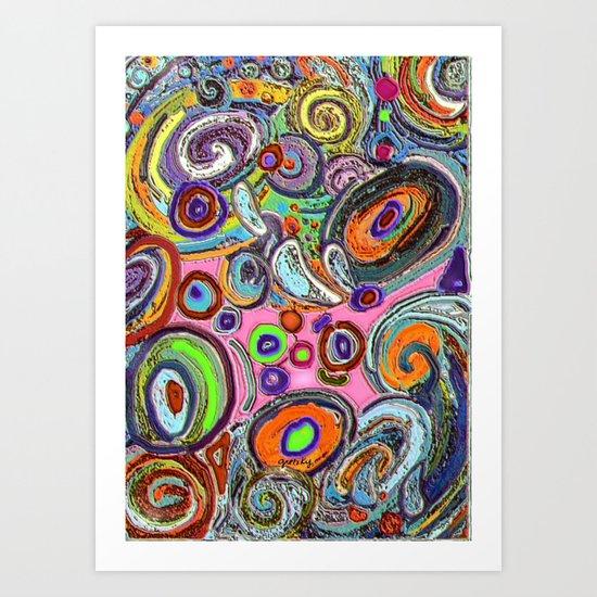Abstracto Rocoso Art Print