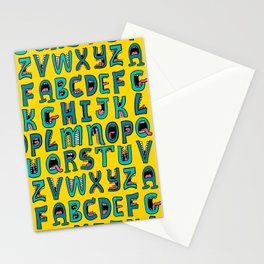 Loud Mouth Alphabet Stationery Cards