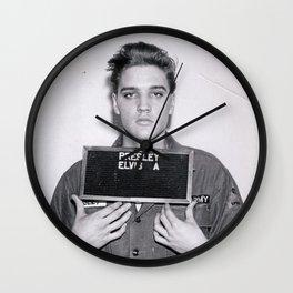 Elvis Presley Mugshot Wall Clock