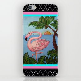 Flamingo Paradise iPhone Skin