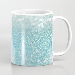 Mermaid Sea Foam Ocean Ombre Glitter Coffee Mug
