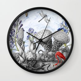 THE VISITORS Wall Clock