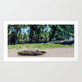 Weathered 'Bangka' Kayak Art Print