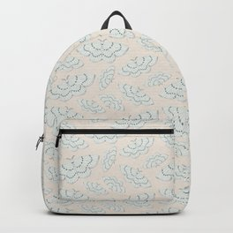 White Moth Seamless Pattern Backpack