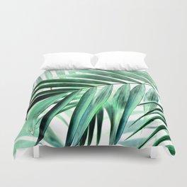 Tropical green leaves design Duvet Cover