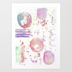 watercolor abstract Art Print