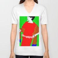 sarah paulson V-neck T-shirts featuring Sarah by Alec Goss