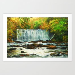 Autumns Chill Art Print