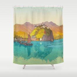 Koko (i.e. Hukow, China) Vintage Beautiful Japanese Woodblock Print Hiroshi Yoshida Shower Curtain
