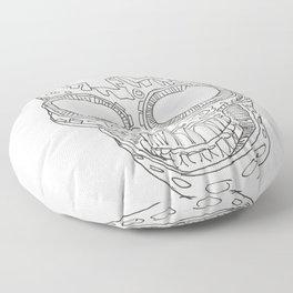 Skull vertical Floor Pillow