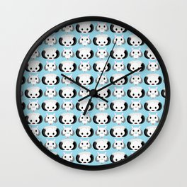 Wampas and Tauntauns on Blue Wall Clock