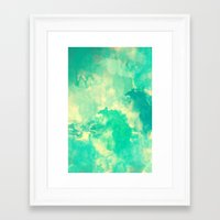 underwater Framed Art Prints featuring Underwater by Galaxy Eyes