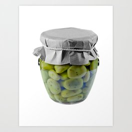 Canned Broad Beans Art Print