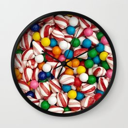 Peppermints and Gumballs Wall Clock