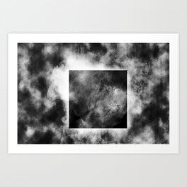 The Part of Our Brains We Use - B/W Art Print