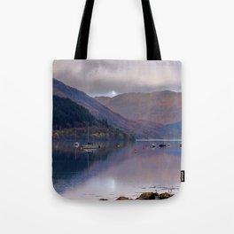 Argyll Scotland loch peaceful boats Tote Bag