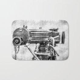 Vickers Machine Gun Vintage Bath Mat