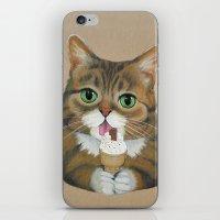 lil bub iPhone & iPod Skins featuring Lil Bub - famous cat by PaperTigress