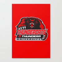 thundercats Canvas Prints featuring  thundera university by Buby87