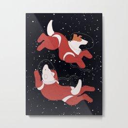 Belka and Strelka - Space Dogs Metal Print