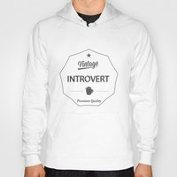 introvert Hoodies featuring Vintage Introvert by Introvertology