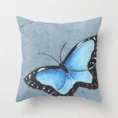 Sapphire Wings Throw Pillow