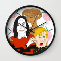 home alone Wall Clocks featuring Home alone? by Elena Éper